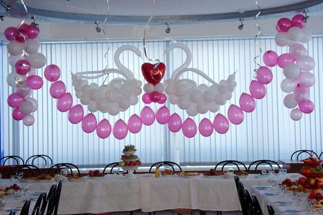 Украшение зала из шаров своими руками на свадьбу